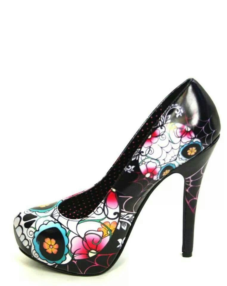 Sugar Skull Heels | Clothing - Shoes/Accessories | Pinterest