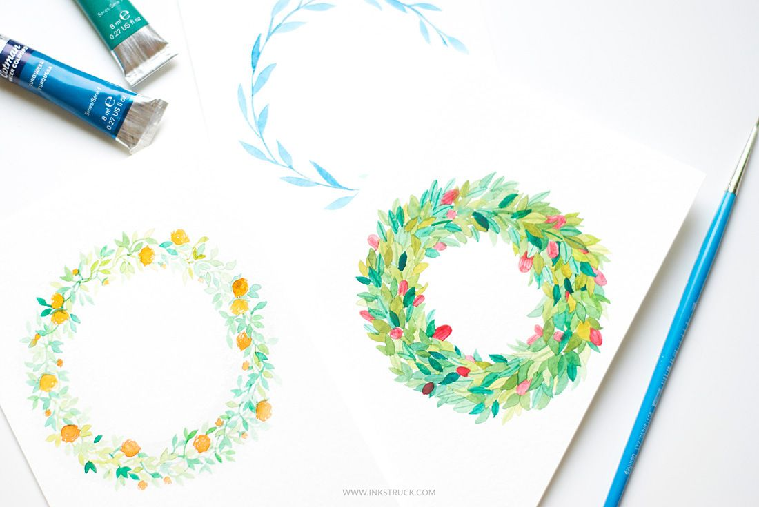 How To Make Watercolor Flower Wreaths Watercolor Flower Wreath