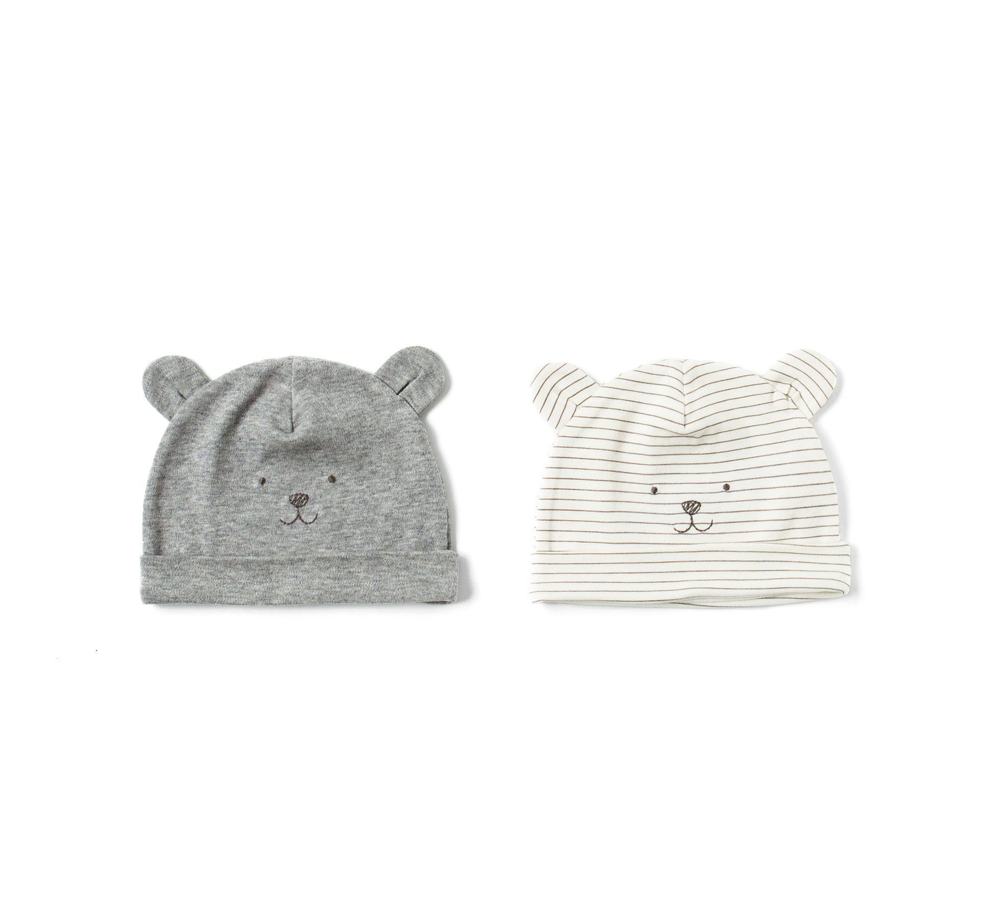 Image 1 Of Pack Of 2 Teddy Bear Hats From Zara Baby Boy Bags Bear Hat Baby Teddy Bear