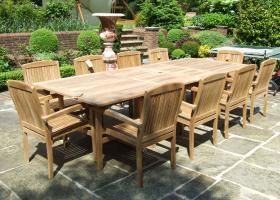 Astonishing 10 12 Seater Teak Garden Set Garden Furniture For Lazy Ibusinesslaw Wood Chair Design Ideas Ibusinesslaworg