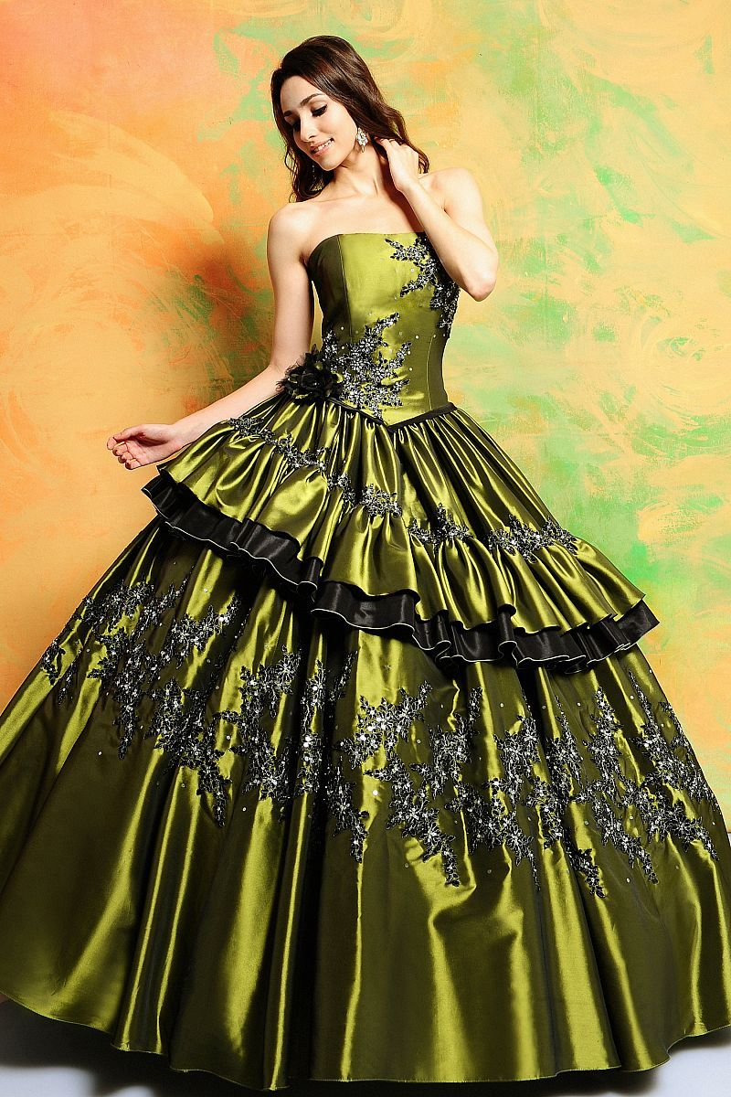 Wedding Green Wedding Dresses green and brown wedding dress plus size dresses vintage dress