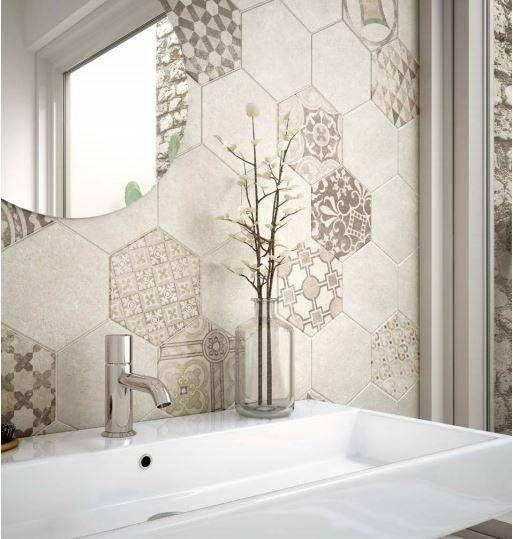 Carrelage Hexagonal Ciment Vieilli Montpellier Cuisine Et Salle De