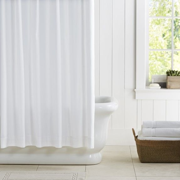 Williams Sonoma Home Waffle Shower Curtain Pique Shower Curtain