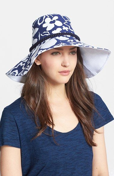 kate spade new york print floppy hat available at  Nordstrom  3b2fb09413a