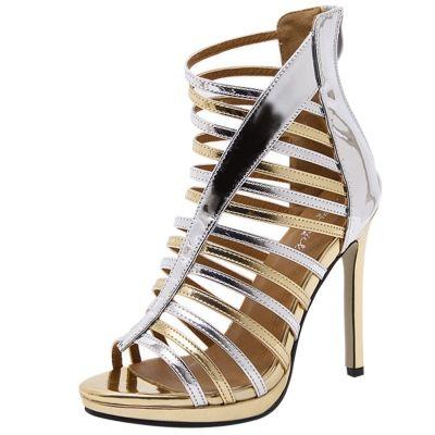 53a6a05e80af3d Peep Toe Hollow out Stiletto Gladiator Sandals OASAP.com