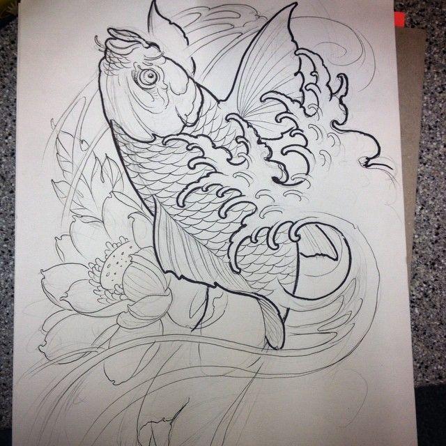 Koi Fish Half Sleeve For Today!! I Love This Stuff.