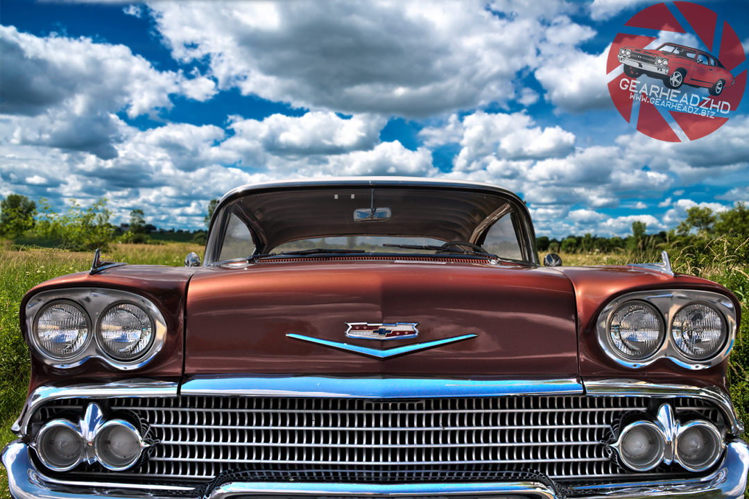 "Take a trip down memory lane. 1958 Chevy Impala. Get the print over at www.gearheadz.biz. $45.00 and FREE priority shipping in the US! (24""x36"")"