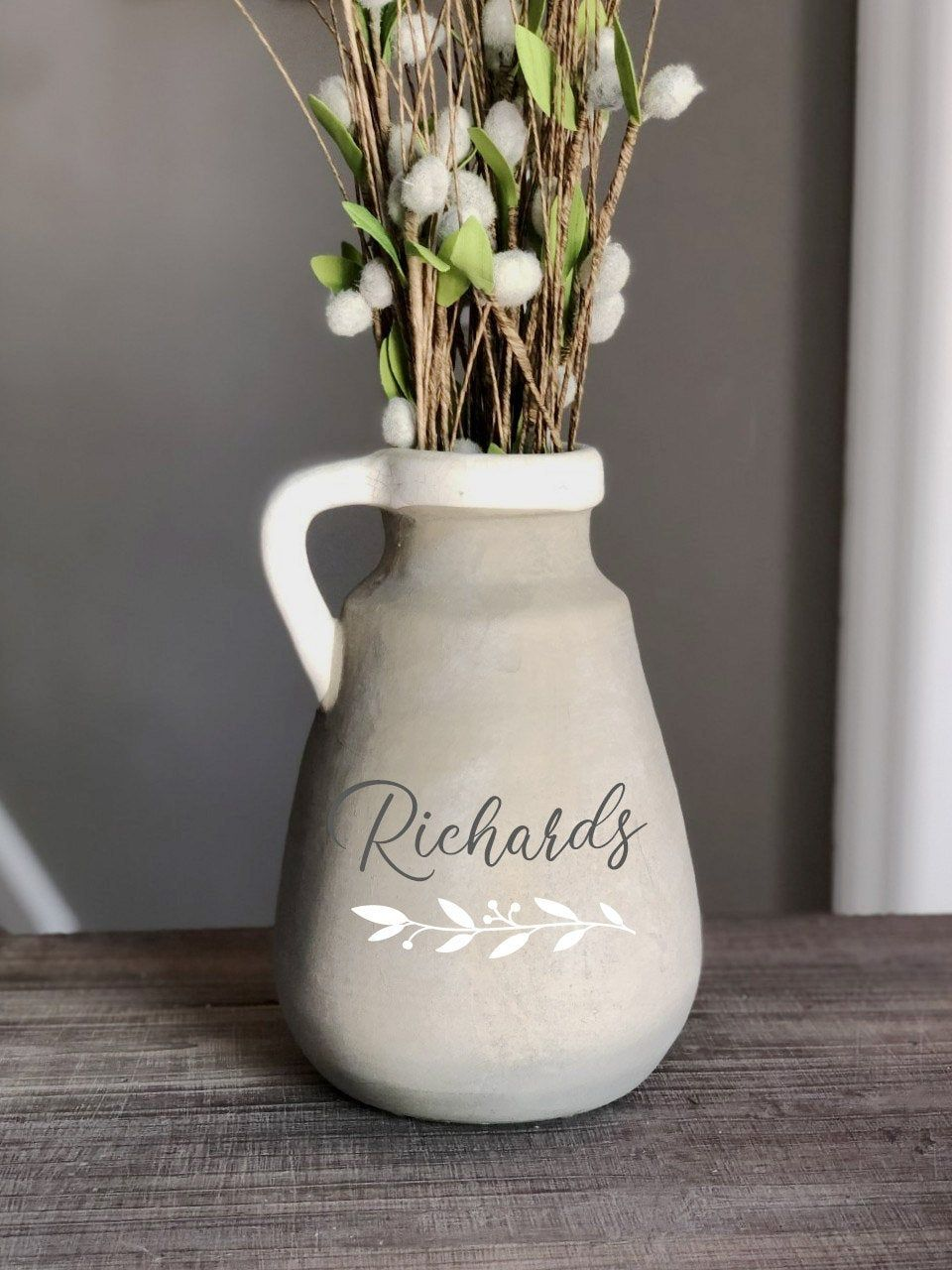 Custom Natural Ceramic Milk Jug Vase Wedding Gift Rustic Etsy In 2020 Natural Ceramic Milk Jug Vase Rustic Wedding Gifts
