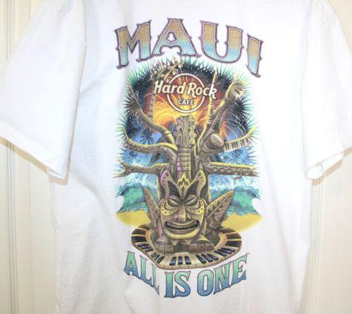 Hard Rock Cafe Maui T Shirts Tiki All Is One