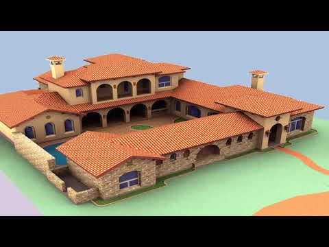 Spanish Style House Plans Interior Courtyard see description