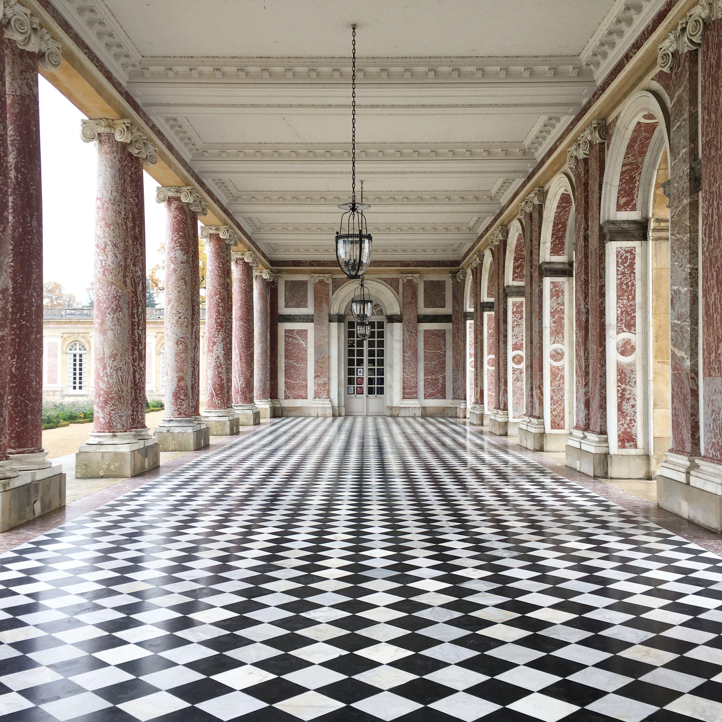 Paris Apartments Versailles: Marble Peristyle In Grand Trianon- Versailles Photo