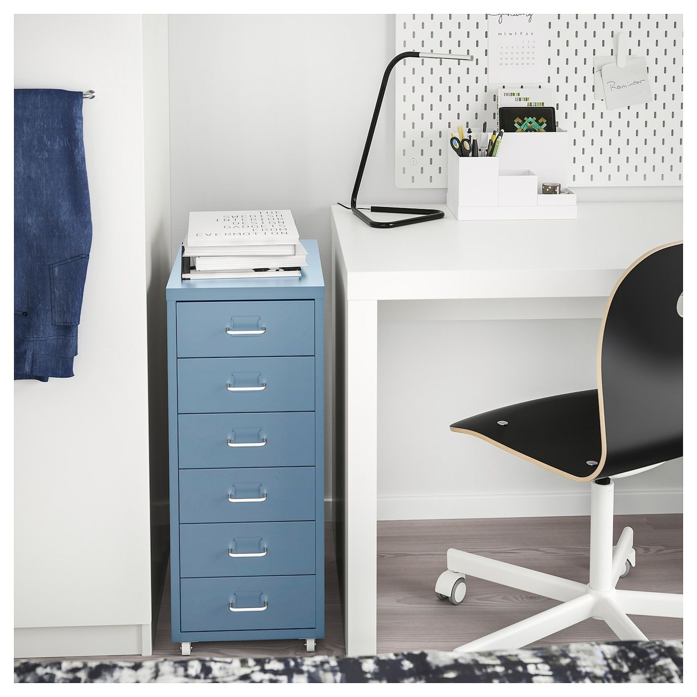 Helmer Drawer Unit On Casters Blue 11x27 1 8 In 2020 Drawer