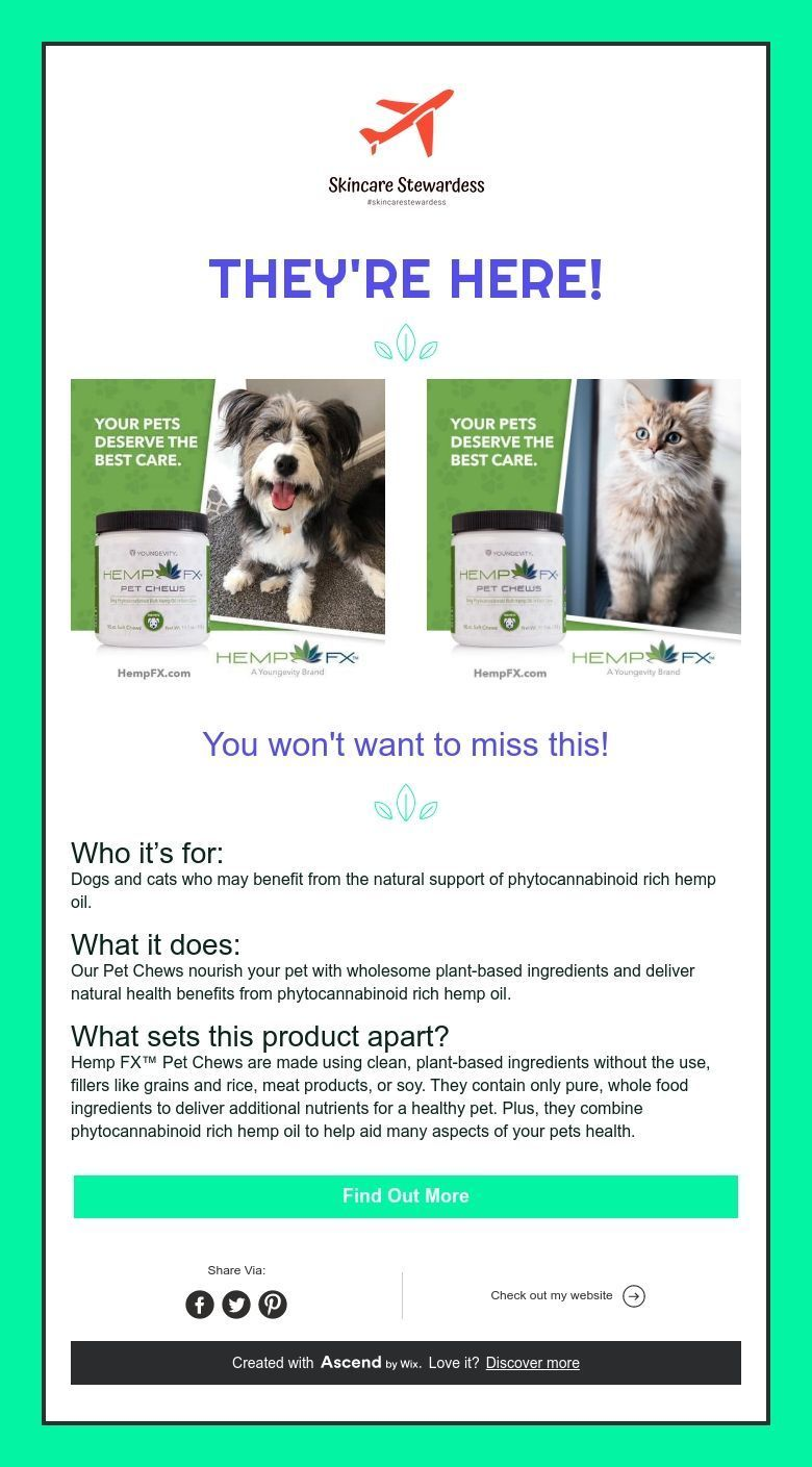 They're Here! Your pet, Hemp oil, Dog cat