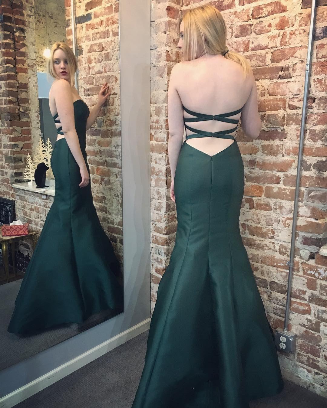 Long dark green dress  Charming Prom DressMermaid Prom Dresses Sexy Evening Dress