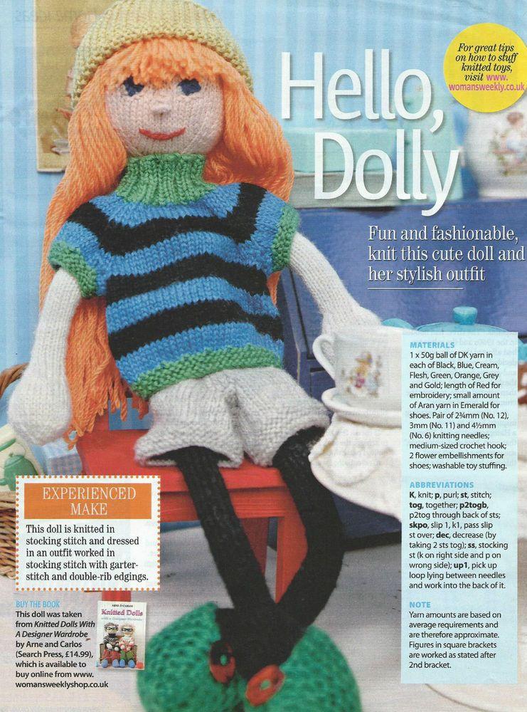 Doll Knitting Pattern Dk In Crafts Knitting Patterns Ebay