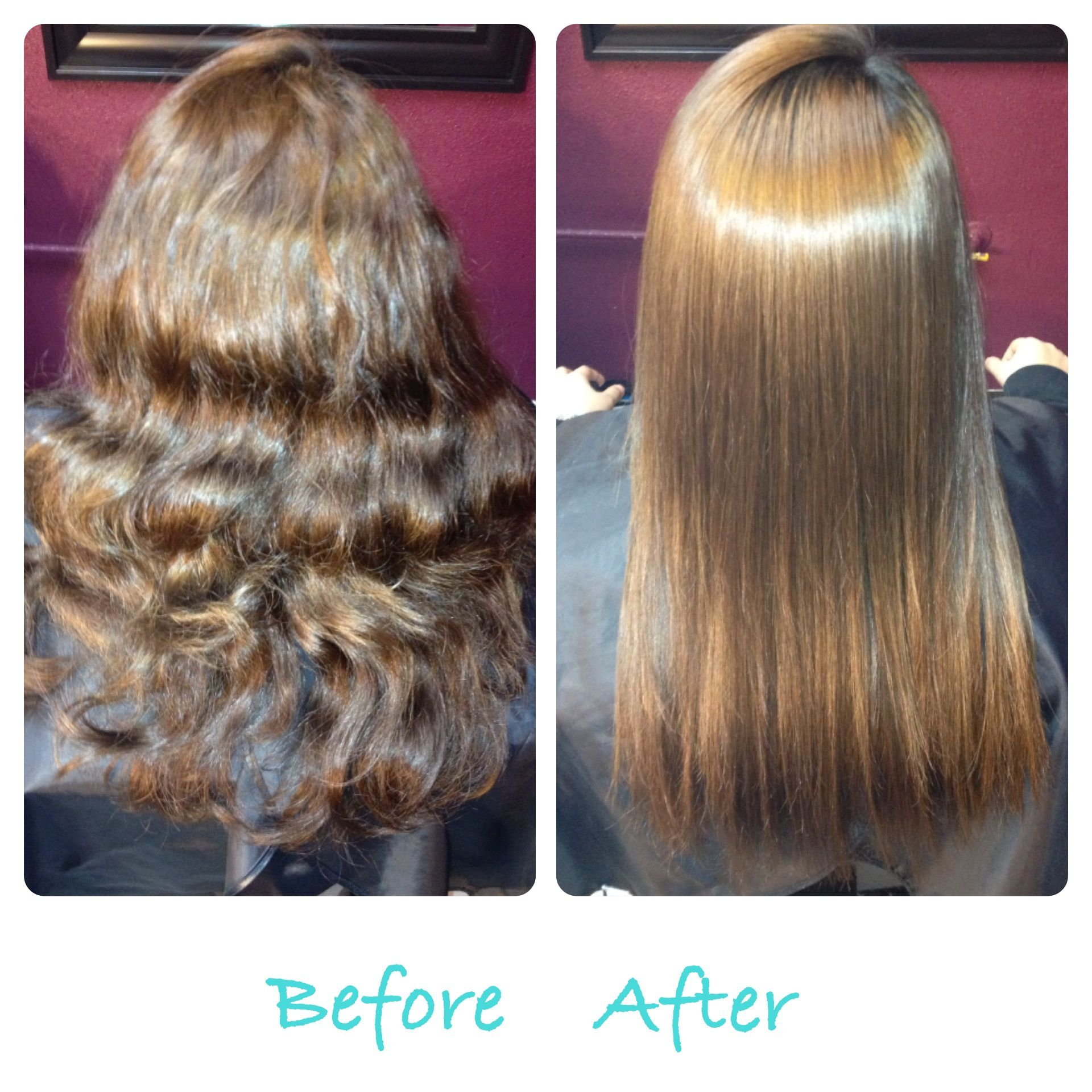 Before And After Chi Straight Perm Hairbyangie Permed Hairstyles Hair Styles Really Long Hair