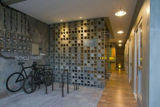 Roster Facade Concrete Blocks