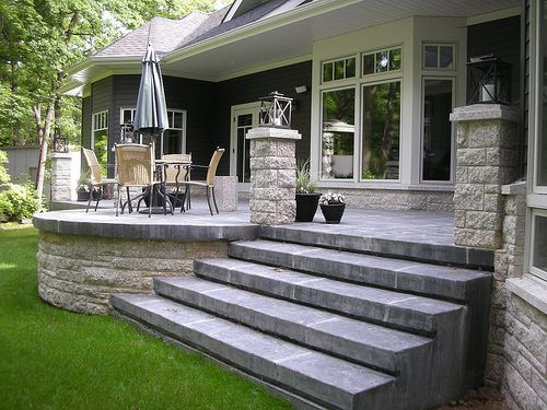 Raised Cement Patios Google Search With Images Patio Stairs