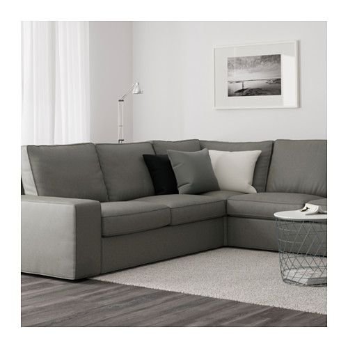 kivik corner sofa 5 seat with chaise longue borred grey green ikea rh pinterest com ikea kivik corner sofa 2+2 IKEA Kivik Sofa Cover Black