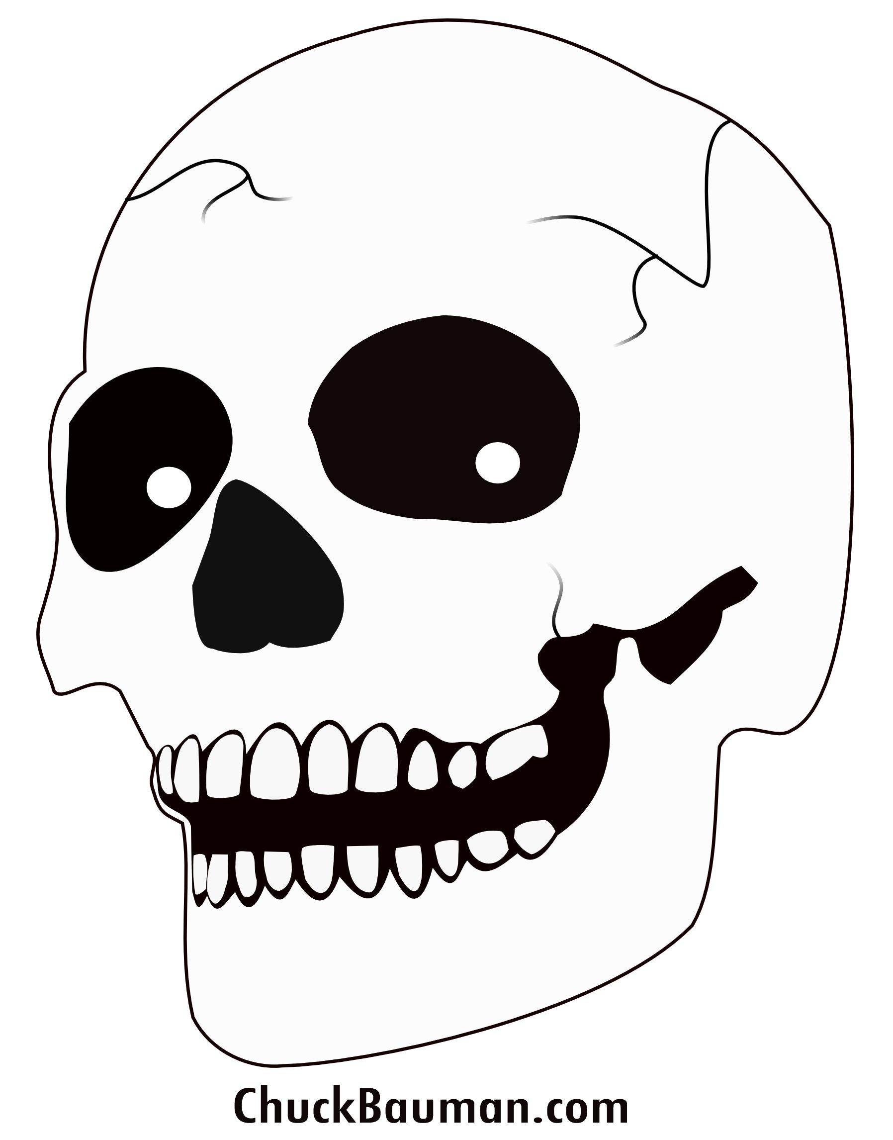 It is a photo of Persnickety Skull Template Printable