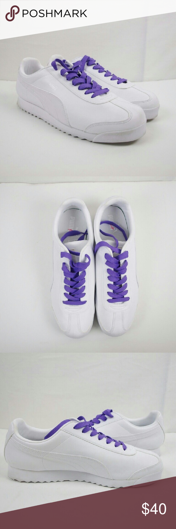 8ad4c205a7ce Womens Puma Roma Basic Retro Leather Shoes Like new! Excellent Condition    only worn once for about an hour. Has light dirt on back sole from the  limited ...