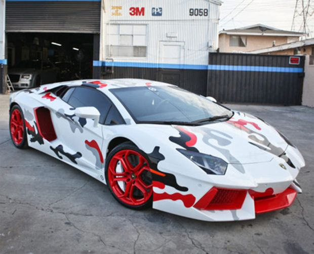 Chris Brown S Fighter Jet Foamposite Inspired Lamborghini