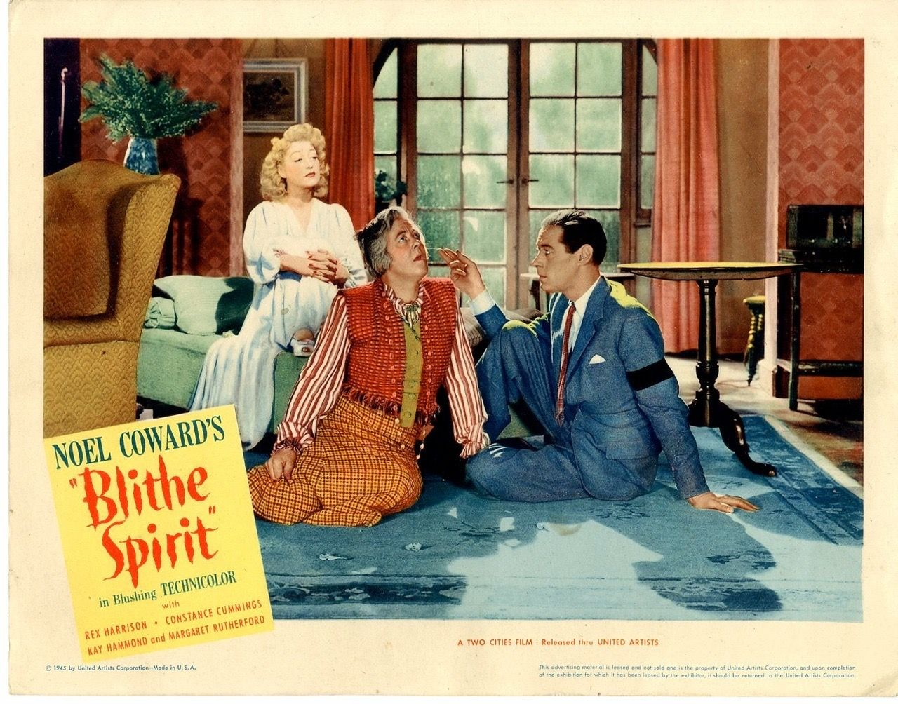 Rex Harrison, Margaret Rutherford and Kay Hammond in Blithe Spirit ...