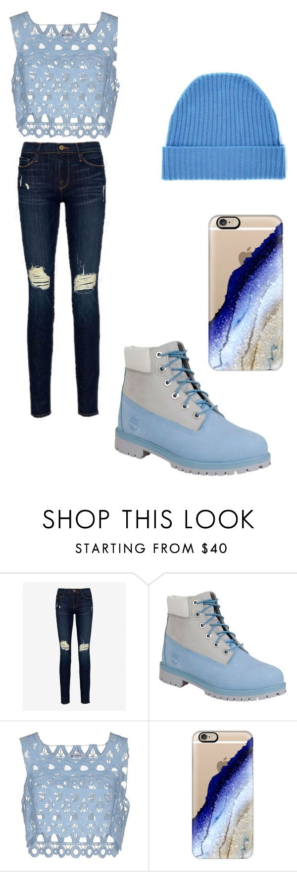 """""""When Im Feeling Blue"""" by alannaoreosqueen on Polyvore featuring Frame Denim, Timberland, Dondup, Casetify and Orwell + Austen"""