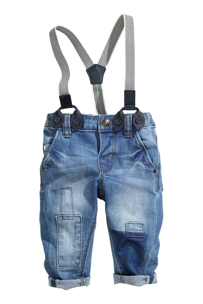 Vaqueros Con Tirantes Ropa Para Bebe Varones Pantalones Para Ninos Moda Para Bebes