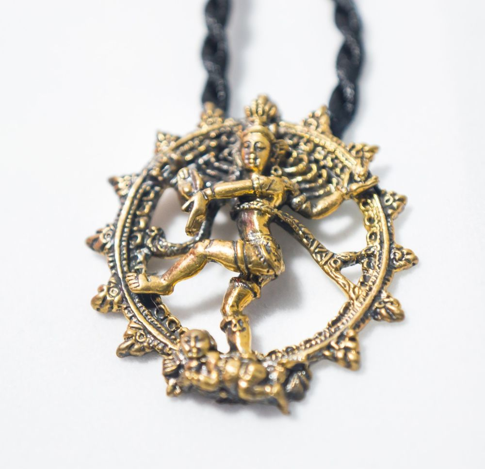 Shiva nataraja dancing shiva hindu deity brass pendant amulet shiva nataraja dancing shiva hindu deity brass pendant amulet necklace mozeypictures Image collections