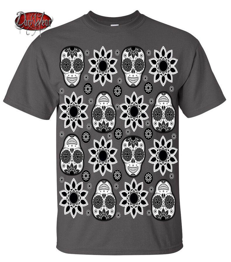 Dark Wear Skull Tattoo Gray T Shirt Biker Sugar Skull Mexican Halloween Gift Top Ad Aff Tattoo Gray Shirt Street Styles Fall In 2019 Autumn Street St