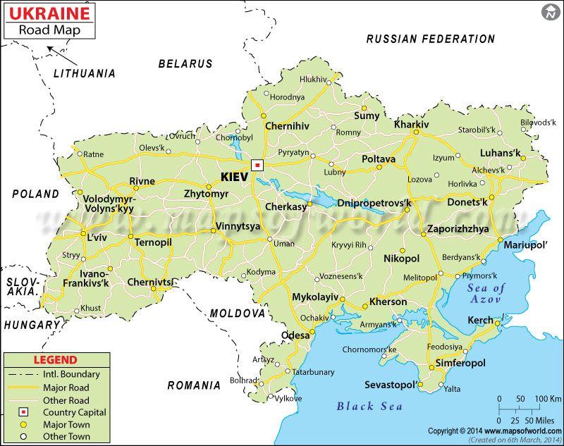 Ukraine Road Map Maps Pinterest Ukraine