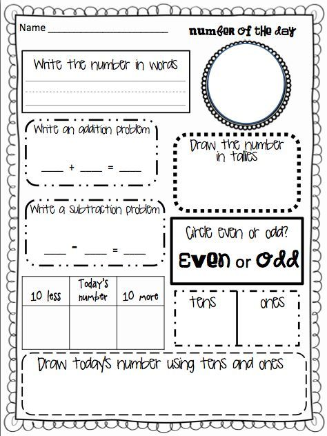 of the Day! Great ice breaker for math. For my Grade 2s: | Grade 2 ...