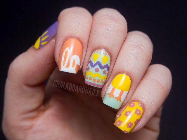 Chalkboard Nails: Easter