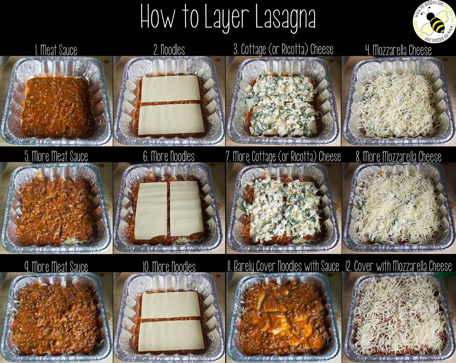how to layer the lasagna