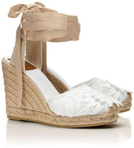 Women's White Emil Wedge Espadrille Sandal - Women's White Emil Wedge Espadrille Sandal Espadrille Sandals