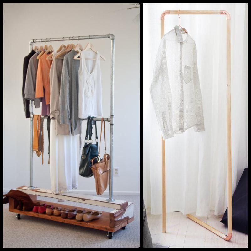 Perchero Desmontable Con Tuberías Buscar Con Google Bedroom Diy Decor Furniture
