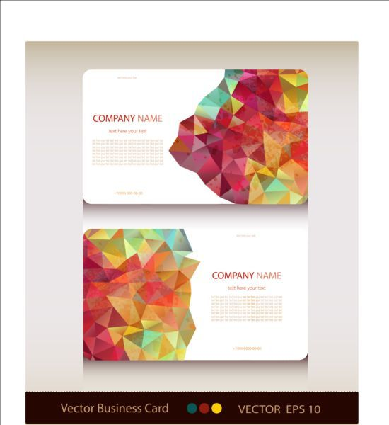 Geometric shapes business card vector set 02 reheart Image collections
