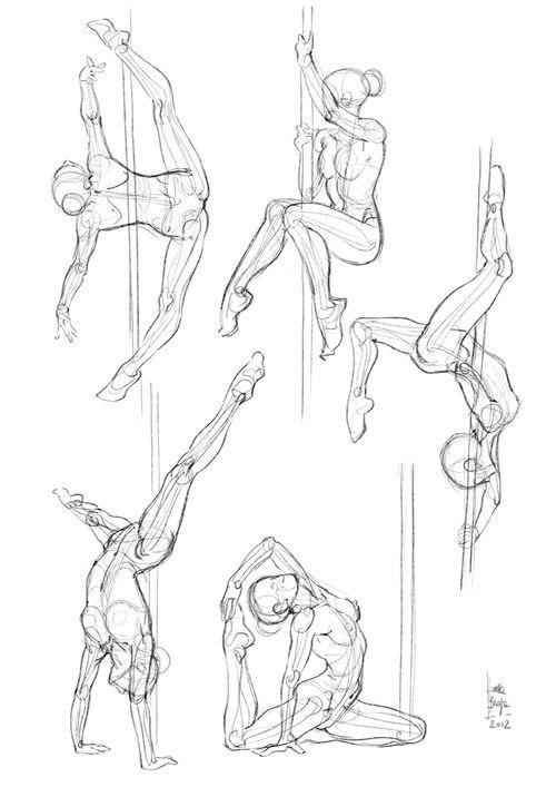 Pole dance | Figurines de moda | Pinterest | Dibujo, Anatomía y Bocetos