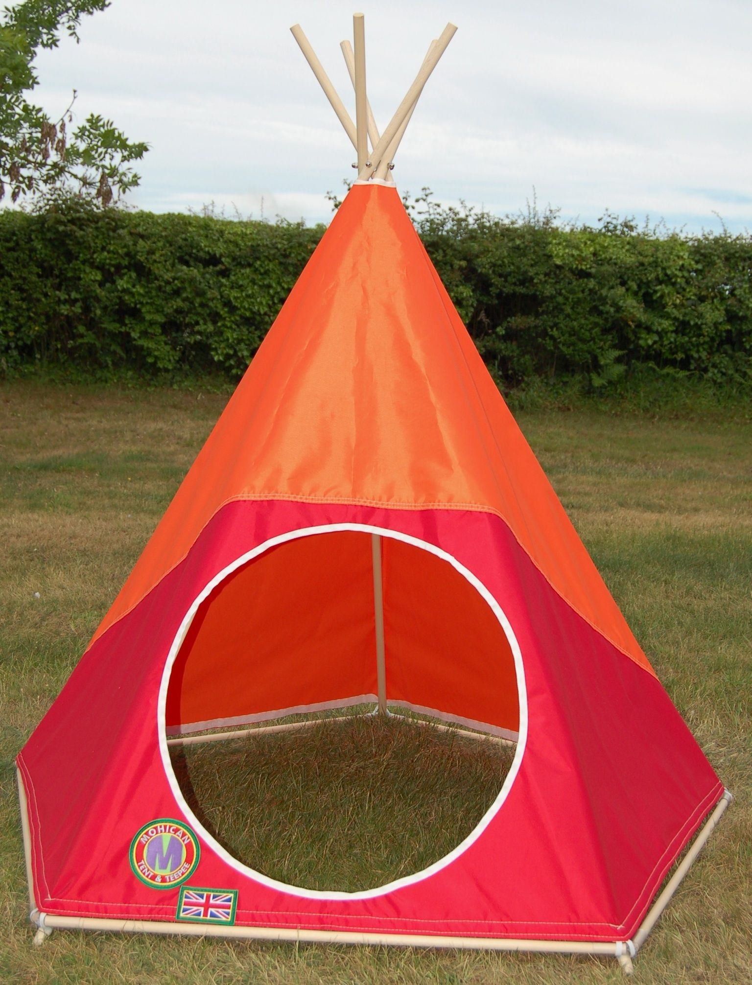"""""""Feel The Glow"""" - Warm Tropical Children's Teepee / Tipi / Play Tent by: www.mohicantents.co.uk"""