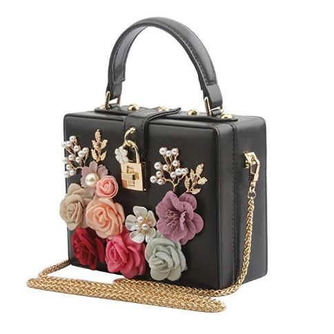 LETODE Women Evening Clutch Bag Glitter Purse Fashion Handbags For Dance Wedding Party Prom Bride