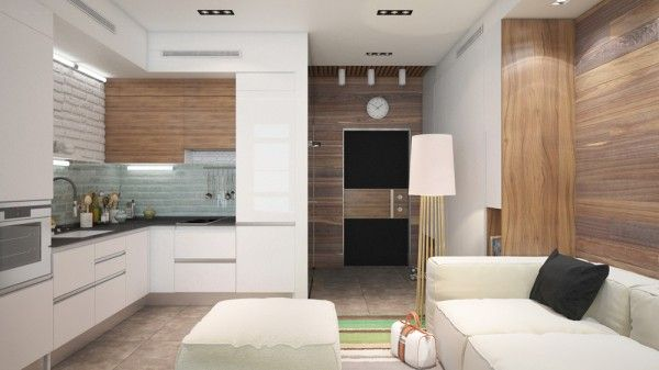 6 beautiful home designs under 30 square meters with for Planos de cocinas de 10 metros cuadrados
