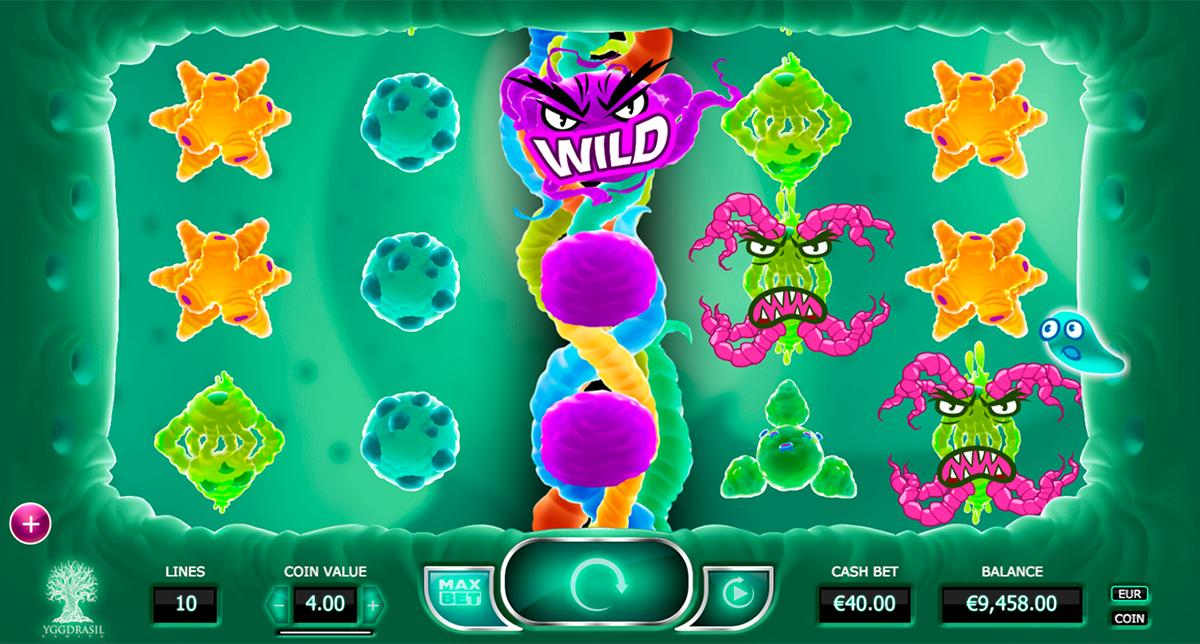 """""""Cyrus the Virus"""" von Yggdrasil Spielautomaten Hersteller! Spiele mit Slot Viren und zeige ihnen, wie gut du beim Automaten spielen bist! Finde Wild und Scatter Symbole und spiele für Spielgeld! Werde ein guter Glücksspieler!"""