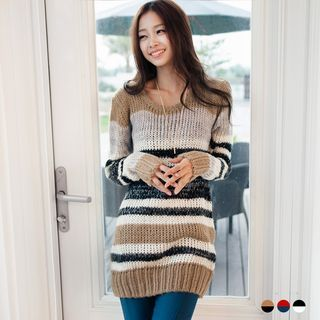 Buy OrangeBear Multi-Stripe Sweater Dress at YesStyle.ca! Quality products at remarkable prices. FREE SHIPPING to Canada on orders over CA$ 45.