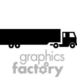 Clip Art Of Semi Truck Silhouette 379655 Classic Pickup Trucks Classic Trucks Vintage Pickup Trucks