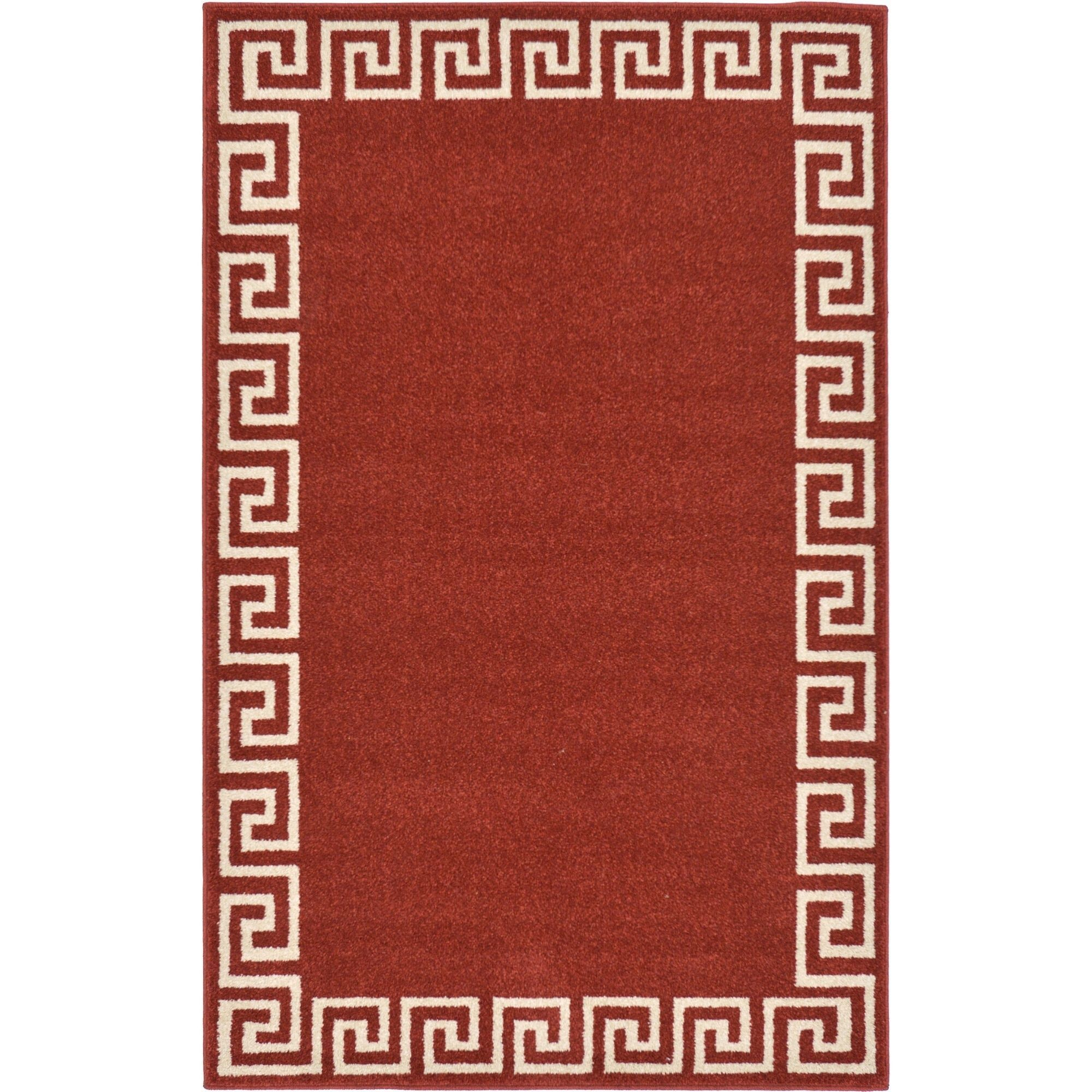 Unique Loom Athens Terracotta Area Rug