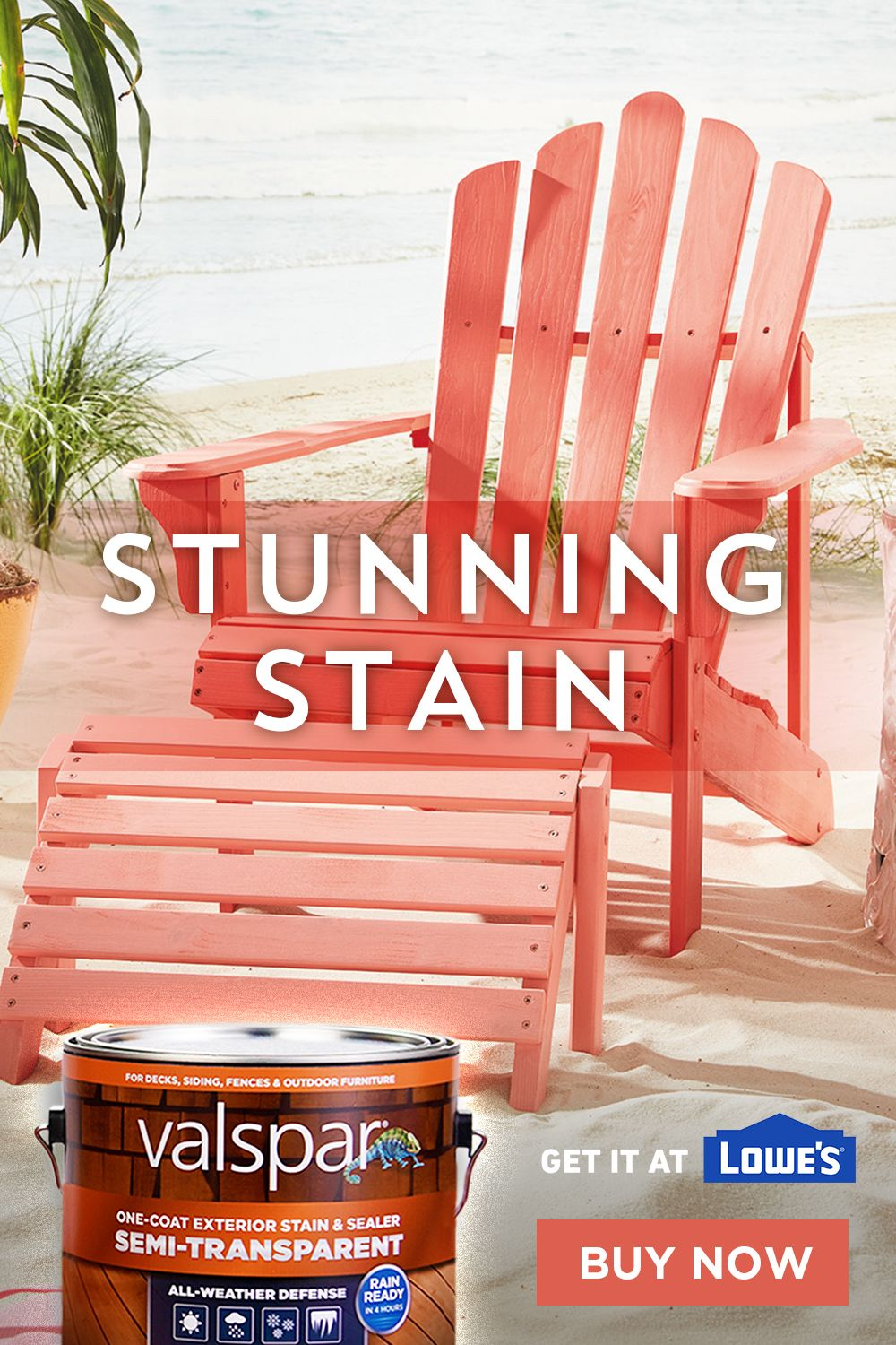 Applying Color To Outdoor Furniture Stain Is Easy With Semi Transparent Valspar Stain It Provides All Outdoor Deck Furniture Backyard Furniture Staining Wood