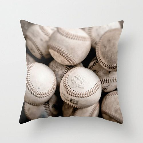 Velveteen Pillow Cover Baseball Sports Fan Boys Room Decor