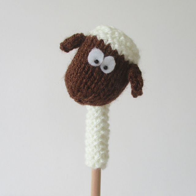 Farmyard Pencil Toppers pattern by Amanda Berry | Arte