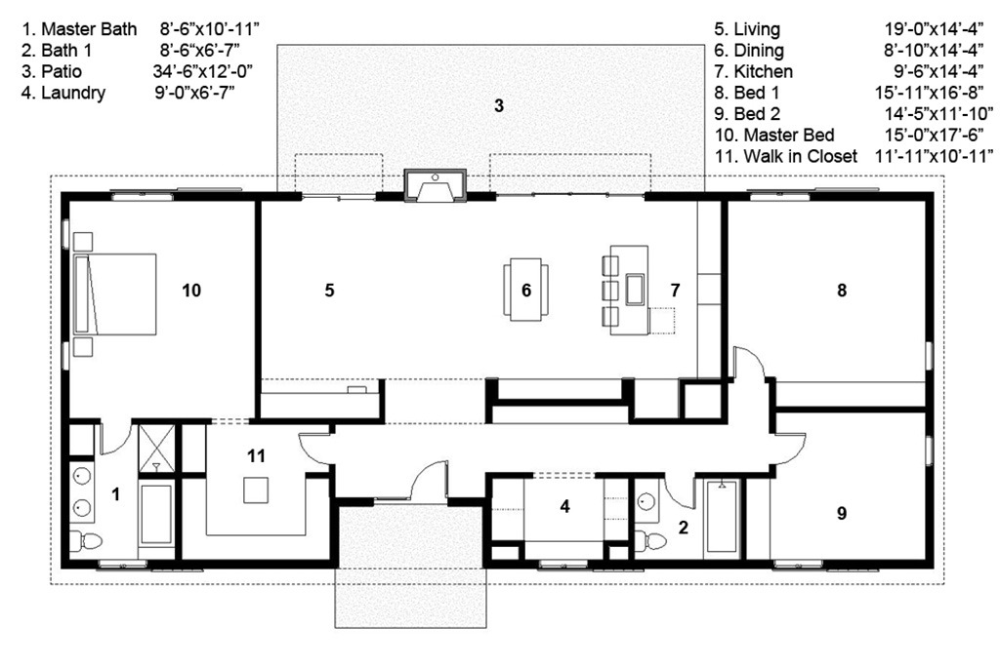 Ranch Style House Plan 3 Beds 2 Baths 2040 Sq Ft Plan 497 50 House Remodeling Plans Bungalow House Plans Floor Plans Ranch